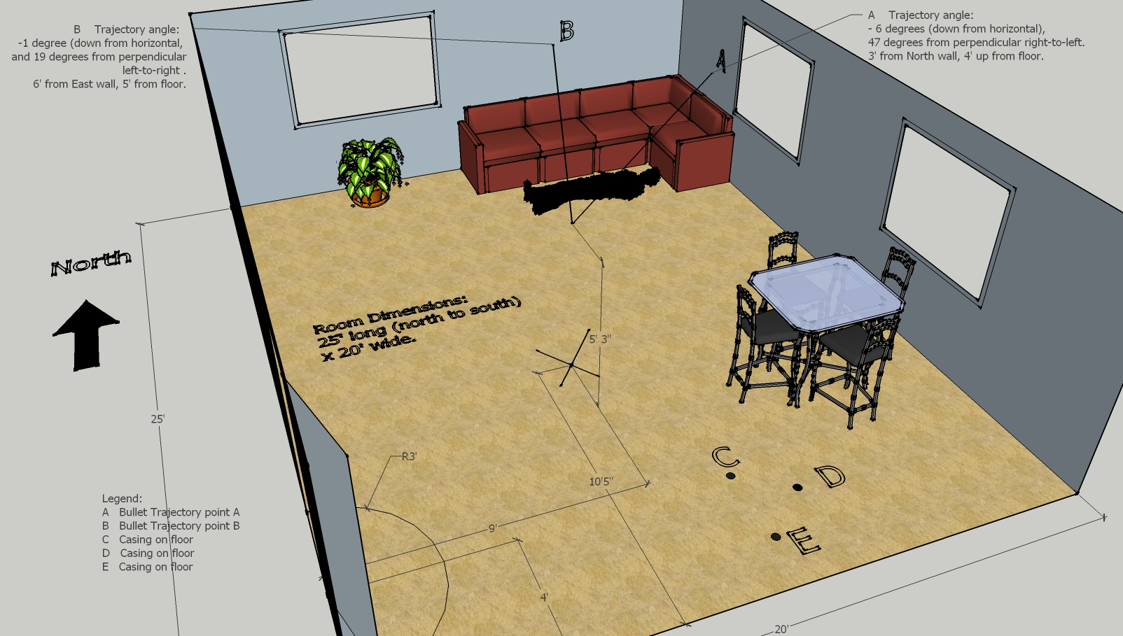 Crime Scene Sketch AutoCADRevit The Design Build Academy